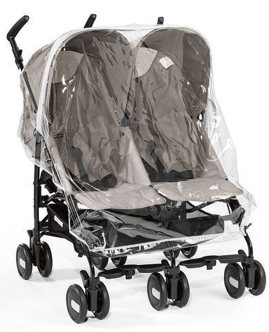 Дождевик для коляски Peg-Perego Aria Shopper Twin, Mini Twin