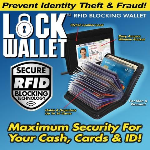 Безопасная кредитница Lock Wallet