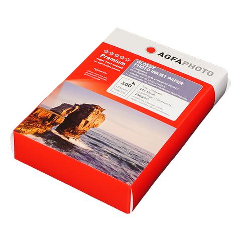 Фотобумага AGFA Premium 4R (10x15) Глянцевая 240g 100 листов