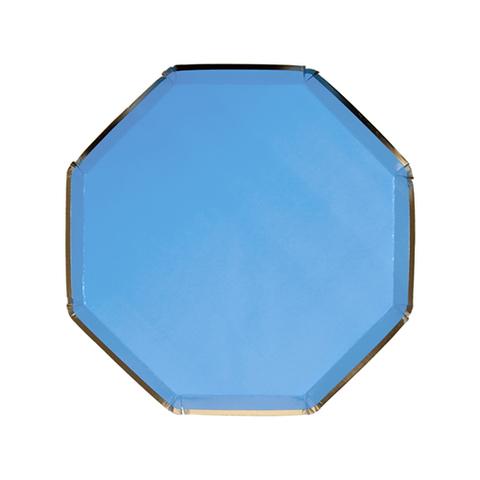 Тарелки маленькие, голубые