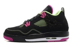 Nike Air Jordan 4 Retro Жен (Black/Fuschia Force/Flash Lime)