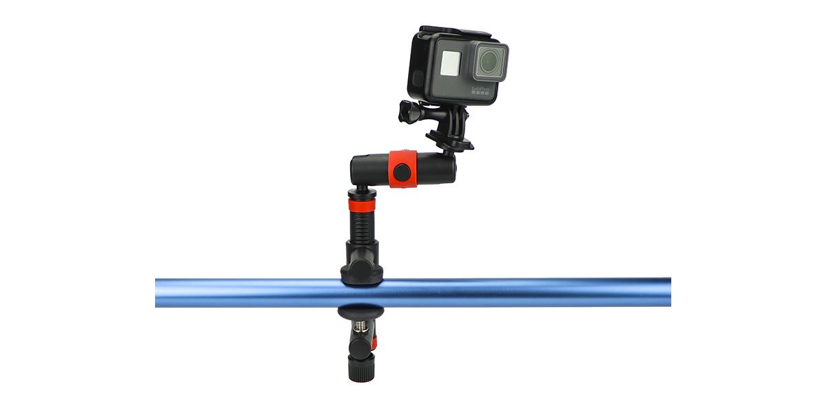 Крепление-струбцина JOBY Action Clamp & Locking Arm с камерой