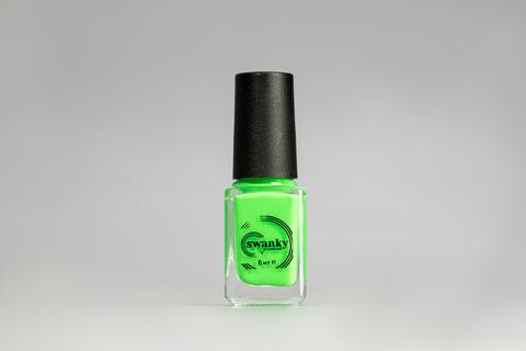 Лак для стемпинга Swanky Stamping №015, неоново-зеленый, 6 мл.