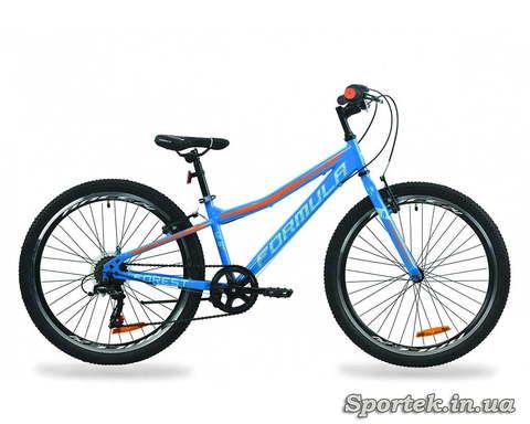 Горный универсальный подростковый велосипед Formula Forest 2020 сине-оранжевый