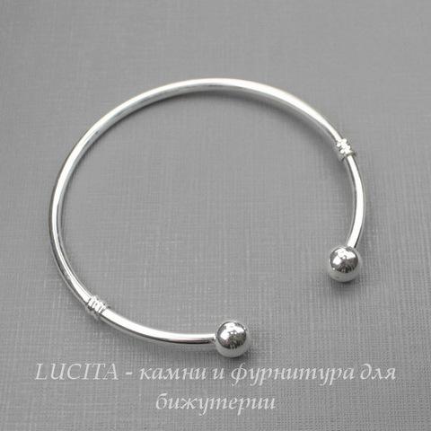 """Основа для браслета """"Пандора"""" 20 см (цвет - серебро)"""