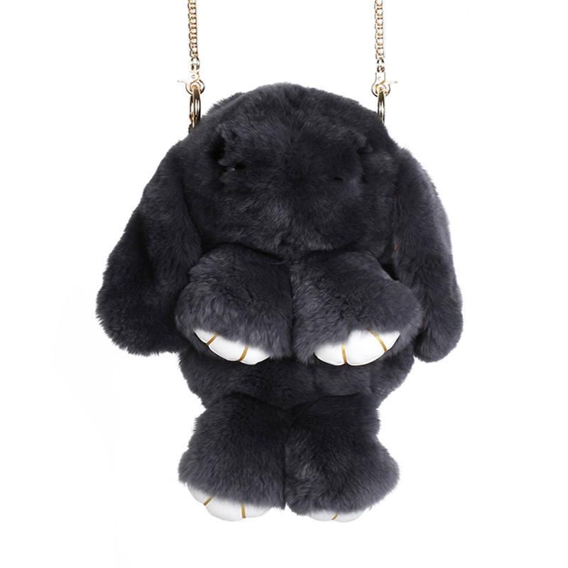 Тёмно-серый вариант цвета сумки кролик