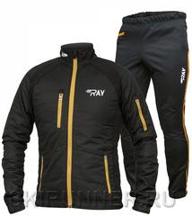 Тёплый лыжный костюм RAY ACTIVE Black-Gold 2018 мужской