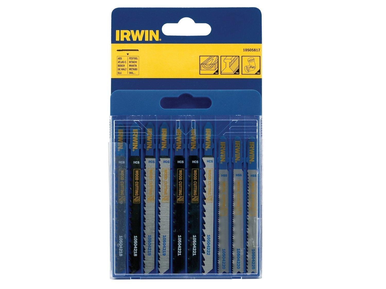Пилки для электролобзика по металлу и дереву набор 10шт Irwin 10505817