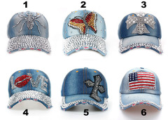 Baseball Jean Caps Women Rhinestone baseball cap - series 1