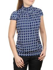 A100-10 блузка женская, темно-синяя