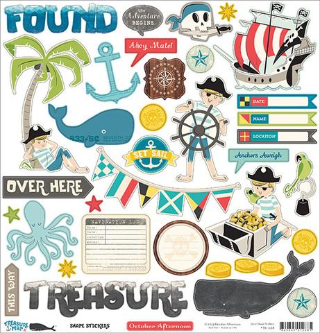"""Стикеры """"Treasure map"""""""