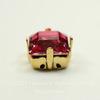 4428/S Сеттинг - основа для страза 8х8 мм (цвет - золото)