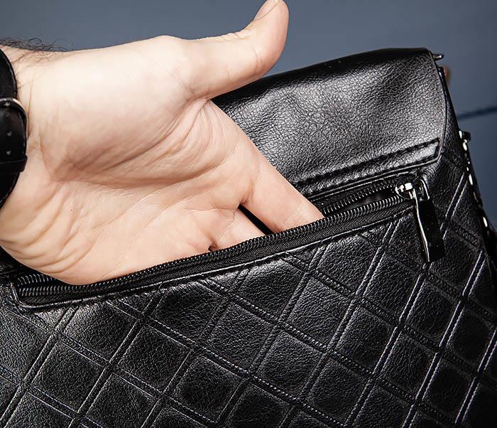 BAG559-1-1 Стильная мужская сумка планшет из кожи фото 09