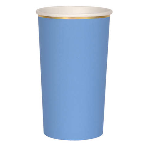 Стаканы высокие для коктейлей, голубые