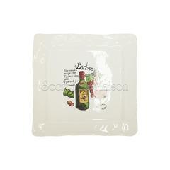 "NEW WINES Square platter  (mod. SQ281 ) | Тарелка обеденная квадратная""ВИНА"" — рисунок 2 Malvasia"