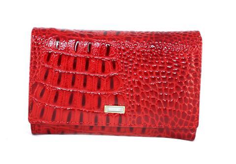 Кошелёк красный женский Coscet нат.кожа CS21-302B