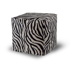Пуфик куб Зебра