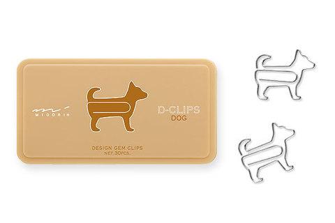Скрепки Midori D-Clips Dog (30 шт.)