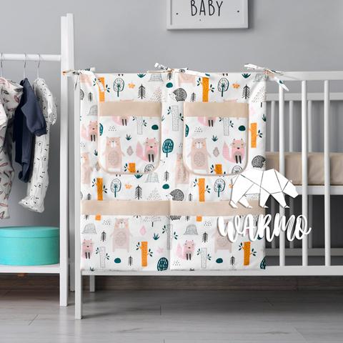 органайзер для ліжечка з малюнком з лісом і звірями фото