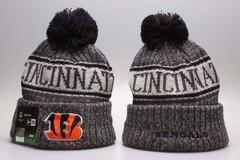 Шерстяная вязаная шапка футбольного клуба Cincinnati (NFL) с помпоном