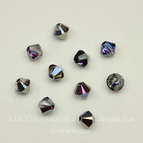 5328 Бусина - биконус Сваровски Crystal Heliotrope 4 мм, 10 штук