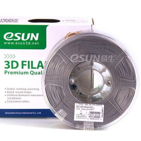Катушка PLA-Пластика ESUN 1.75 Мм 1кг., Серебристая (PLA175S1)