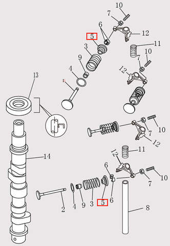 Тарелка клапана для лодочного мотора F9.8 Sea-PRO (4-5)