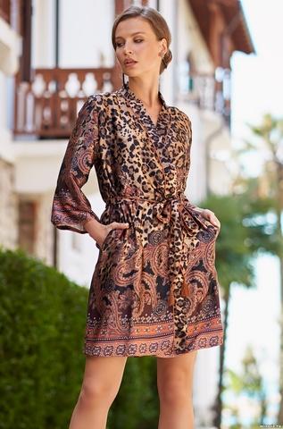 Короткий халат из шелка Mia Amore Cleopatra 3563