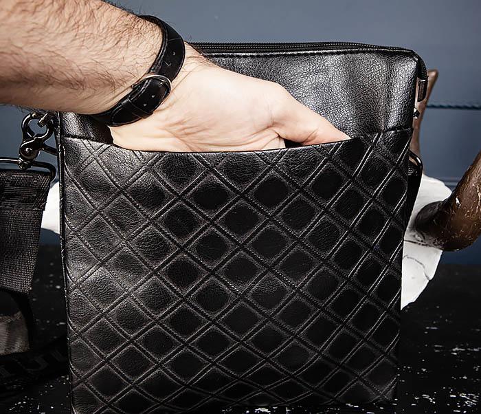 BAG559-1-1 Стильная мужская сумка планшет из кожи фото 11