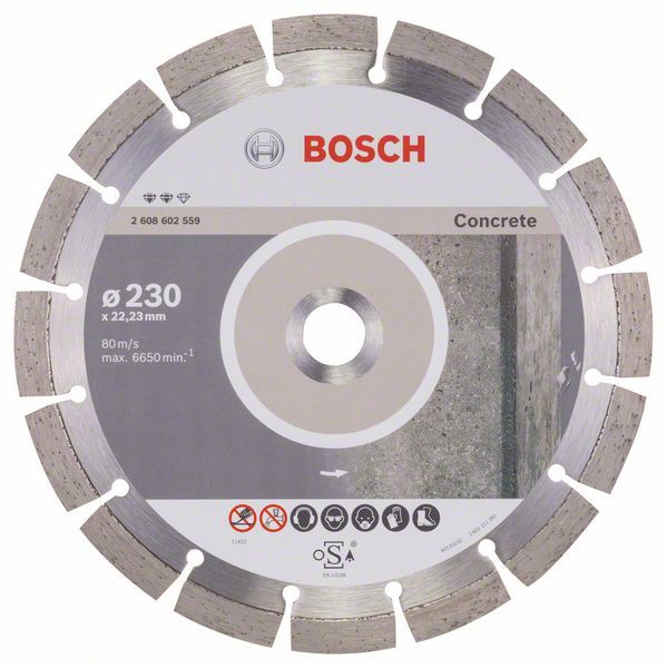 Алмазный диск Expert for Concrete 230-22,23 Bosch 2608602559