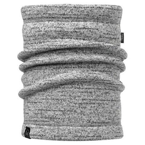 Теплый шарф-труба флисовый Buff Melange Grey