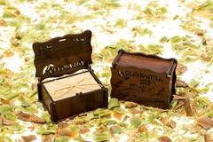 Мыло оливковое в коричневой деревянной шкатулке, 150g ТМ Клеопатра