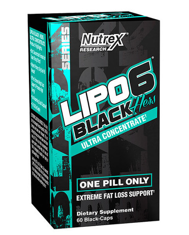 NUTREX Lipo 6 Black Herz Ultra Concentrate, 60 caps.