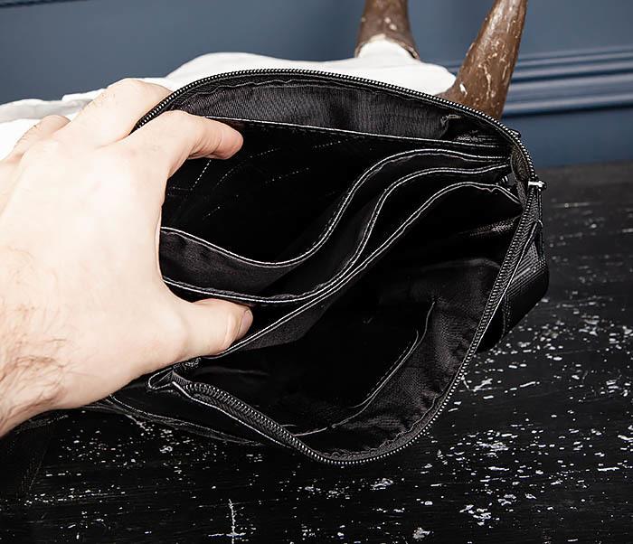 BAG559-1-1 Стильная мужская сумка планшет из кожи фото 12