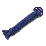 Трос швартовый 3х-прядный Ø10 мм/ 9 м, темно-синий