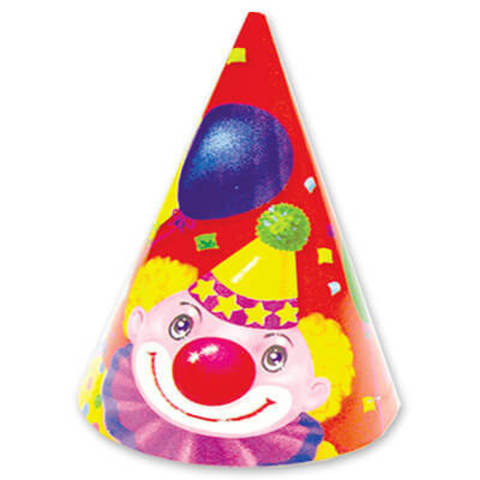 Карнавальный колпак Клоун с Шарами