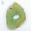Подвеска Срез Агата, цвет - салатово-зеленый, 57-92 мм