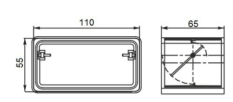 Соединитель-муфта с обратным клапаном 110х55