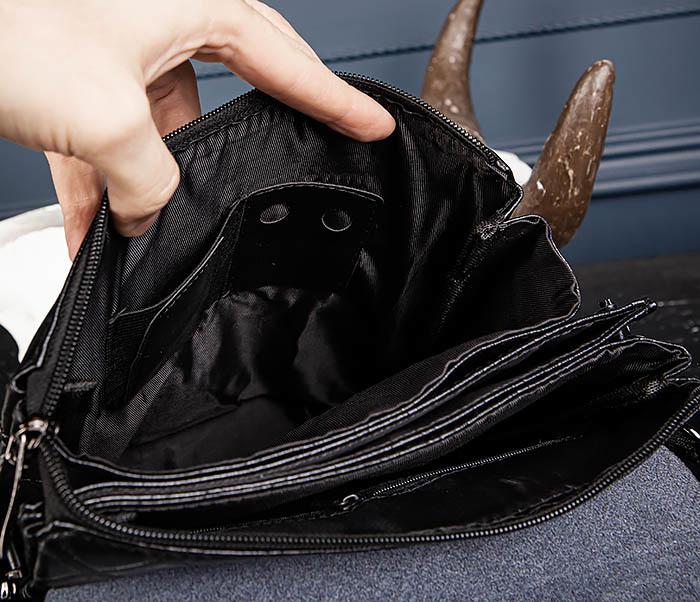 BAG559-1-1 Стильная мужская сумка планшет из кожи фото 14