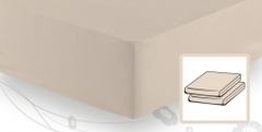 Простыня трикотажная 90-110x200 Elegante 8000 бежевая
