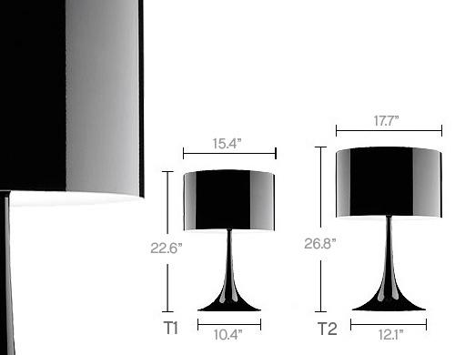 flos spun table lamp t1 82 см