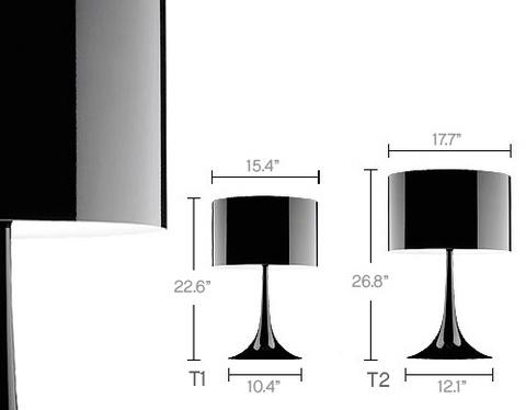 replica   Spun table lamp  T1 (82 см)