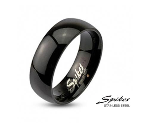 Лаконичное мужское кольцо «Spikes» чёрного цвета, из стали