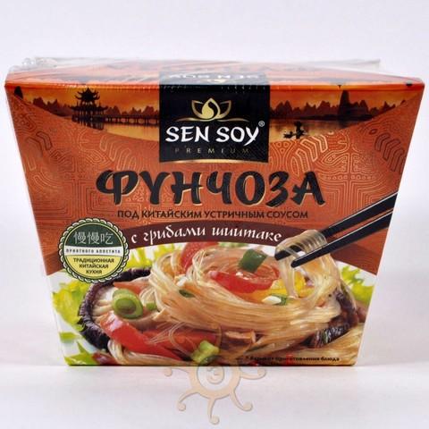 Фунчоза под китайским устричным соусом с грибами шиитаке Sen Soy, 125 г