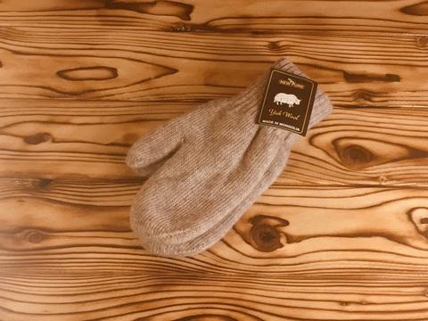 Варежки из шерсти яка  (серые) фото2