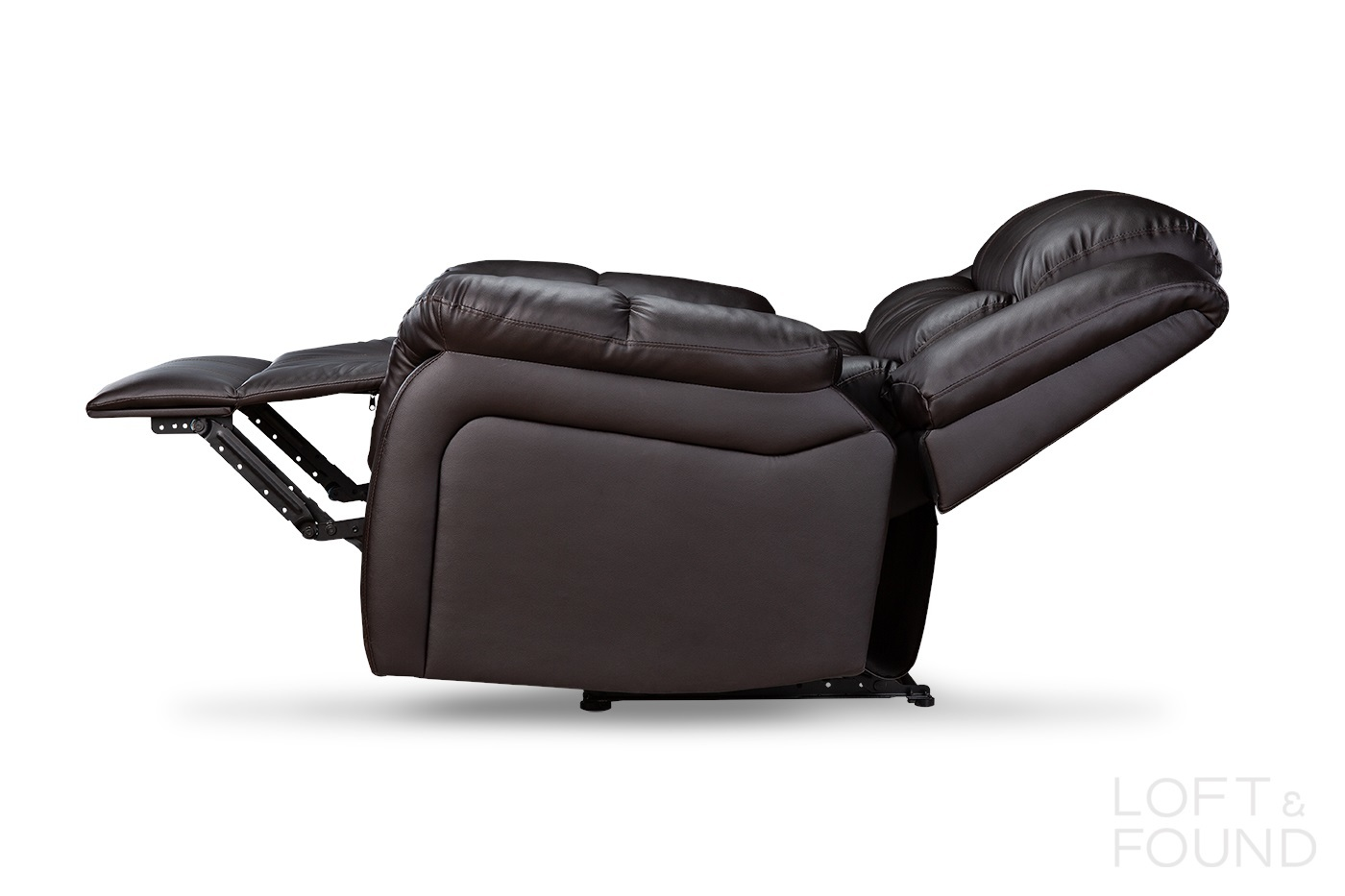 Кресло реклайнер коричневое
