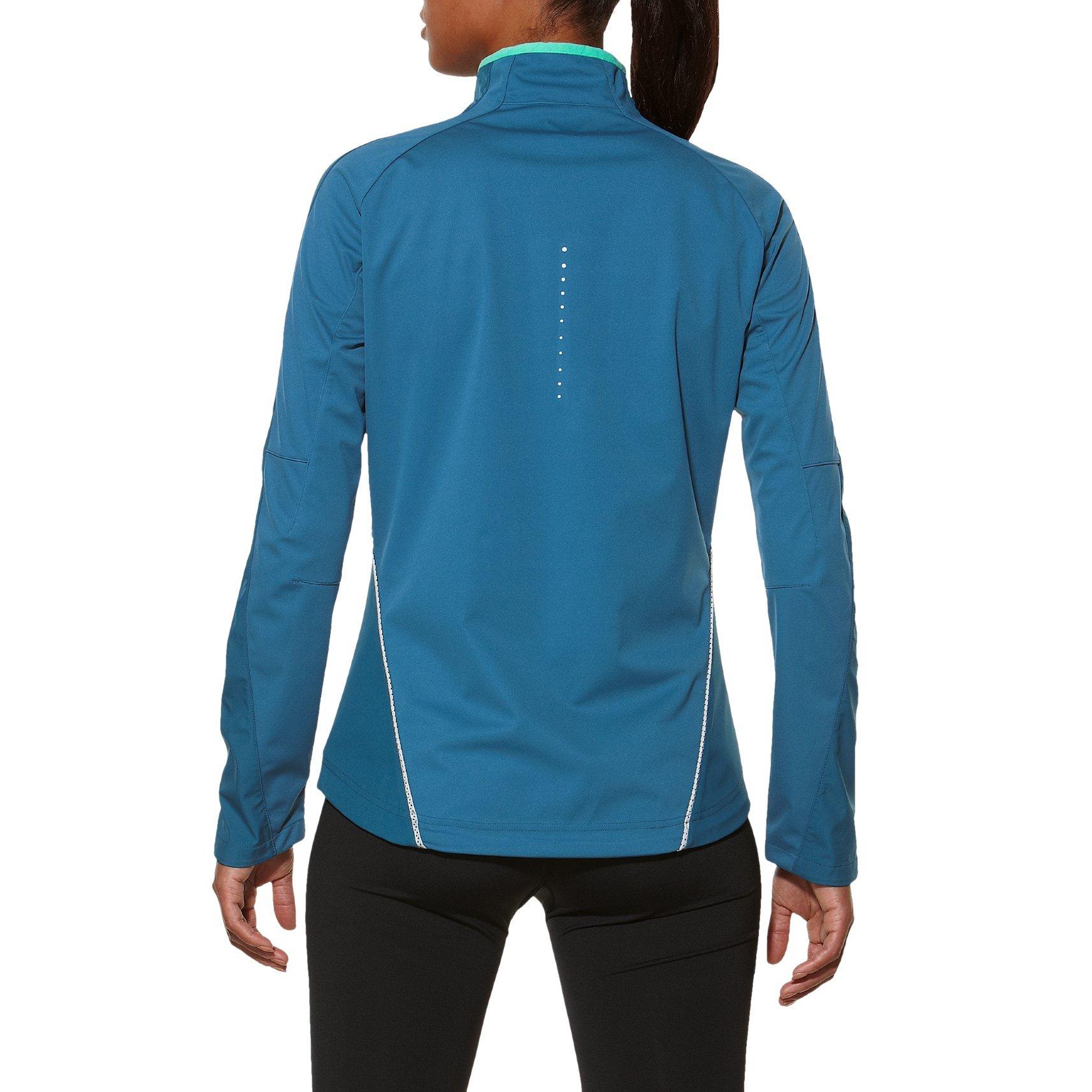 Женская куртка-ветровка асикс Windstopper (128137 8123) синяя