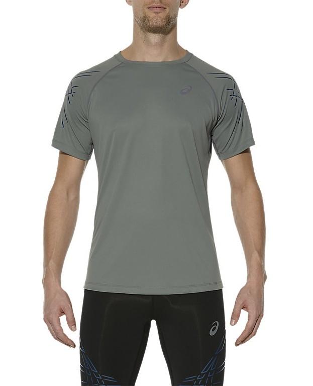 Мужская футболка для бега Asics Stripe SS (126236 0773) серая фото