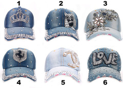 Baseball Jean Caps Women Rhinestone baseball cap - series 2