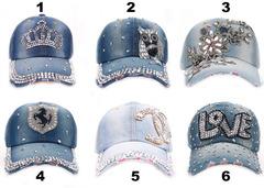 Baseball Jean Caps Women Rhinestone baseball cap - series 2